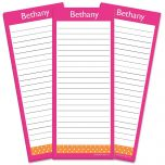 Zesty Dots Lined Shopping List Pads