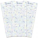 Fresh Blooms Lined Shopping List Pads