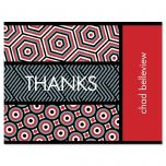 Op Art Thank You Card