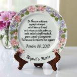 Spanish Wedding Vow Plate