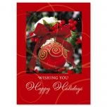 Ornament in Snow Nonpersonalized Christmas Cards - Set of 18