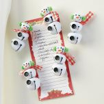 Jingle Bell Snowmen Magnets
