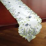 Blue Butterfly Cutwork Table Runner