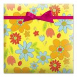 Flower Toss Rolled Gift Wrap