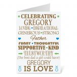 Personalized His Word Montage Birthday Card