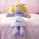 Blonde Cuddly Soft Personalized Doll