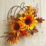 Sunflower Berry Wire Pumpkin