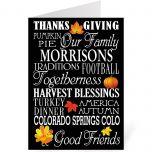 Thankful Customized Thanksgiving Card