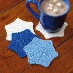 Snowflakes Holiday Diecut Silicone Coasters