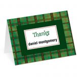 Christmas Plaid Thank You Cards
