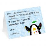Merry Penguin Thank You Cards