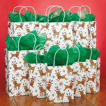 Fun Reindeer Gift Bag Set