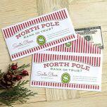 North Pole Money Envelopes
