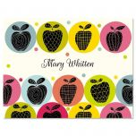 Geometric Apples Note Cards