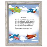 Airplane Name Poem Framed Print