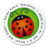 Ladybugs Round Address Labels