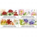 Watercolor Flowers Deluxe Address Labels  (4 Designs)