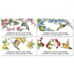 Hummingbirds Deluxe Address Labels  (4 Designs)
