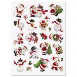 Santa & Snowman Stickers - BOGO