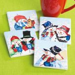 Joyful Snowfriends Coasters