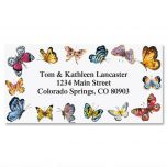 Butterfly Border Border Address Labels