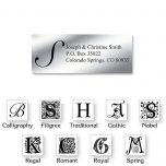 Monogram Silver Foil Premier Address Labels - 240 Count Sheets