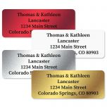 Foil Assortment Address Labels  (4 Colors)