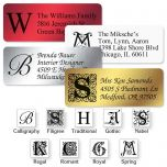 Monogram Foil Address Labels  (4 Colors) - 240 Count Sheets
