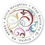 Fantasia  Round Address Labels