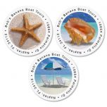 Calm Seas Round Address Labels  (3 Designs)