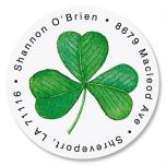 Shamrock Round Address Labels