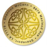Celtic Knot Round Address Labels