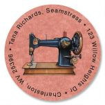 Love Of Sewing Round Address Label