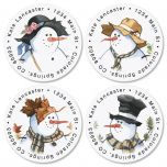 All Season Round Address Labels  (4 Designs)