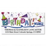 Birthday Wishes Deluxe Address Labels