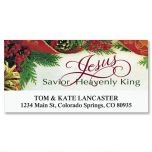 Bordered Christmas Deluxe Address Labels