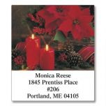 Photo Floral Christmas Select Address Labels