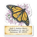 Brilliant Butterflies Diecut Address Labels  (6 Designs)