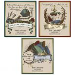 Antiquarian Bookplate Labels  (3 Designs)