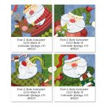 Santa Flurries Address Labels  (4 designs)