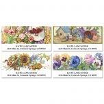 Sandi Gore Floral Deluxe Address Labels  (4 designs)