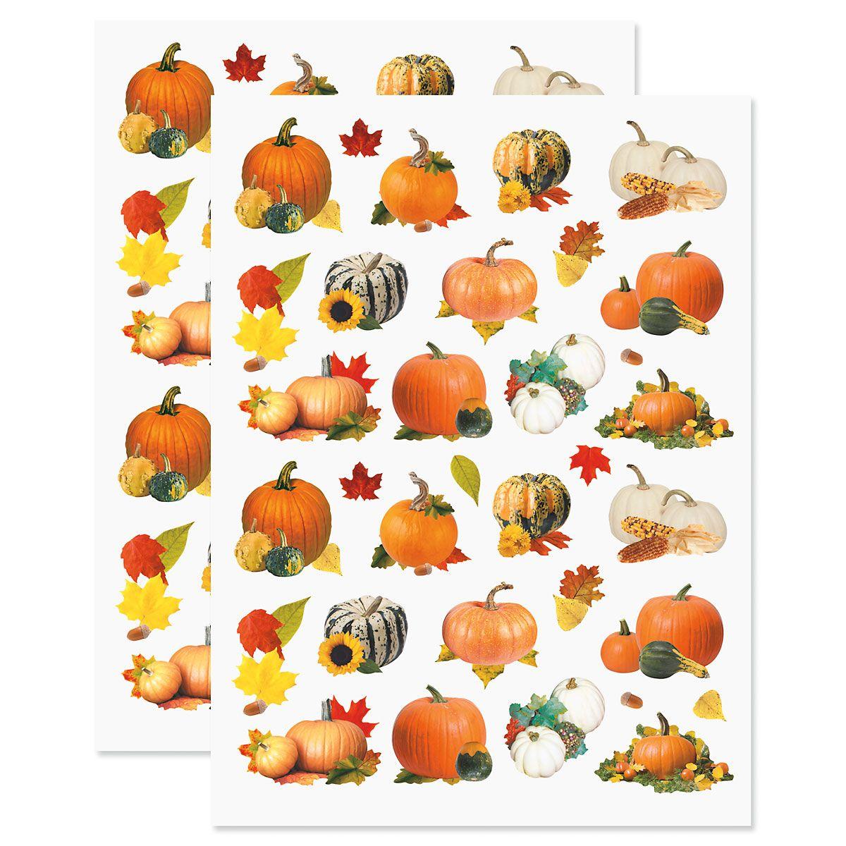 Pumpkin Fall Stickers - BOGO