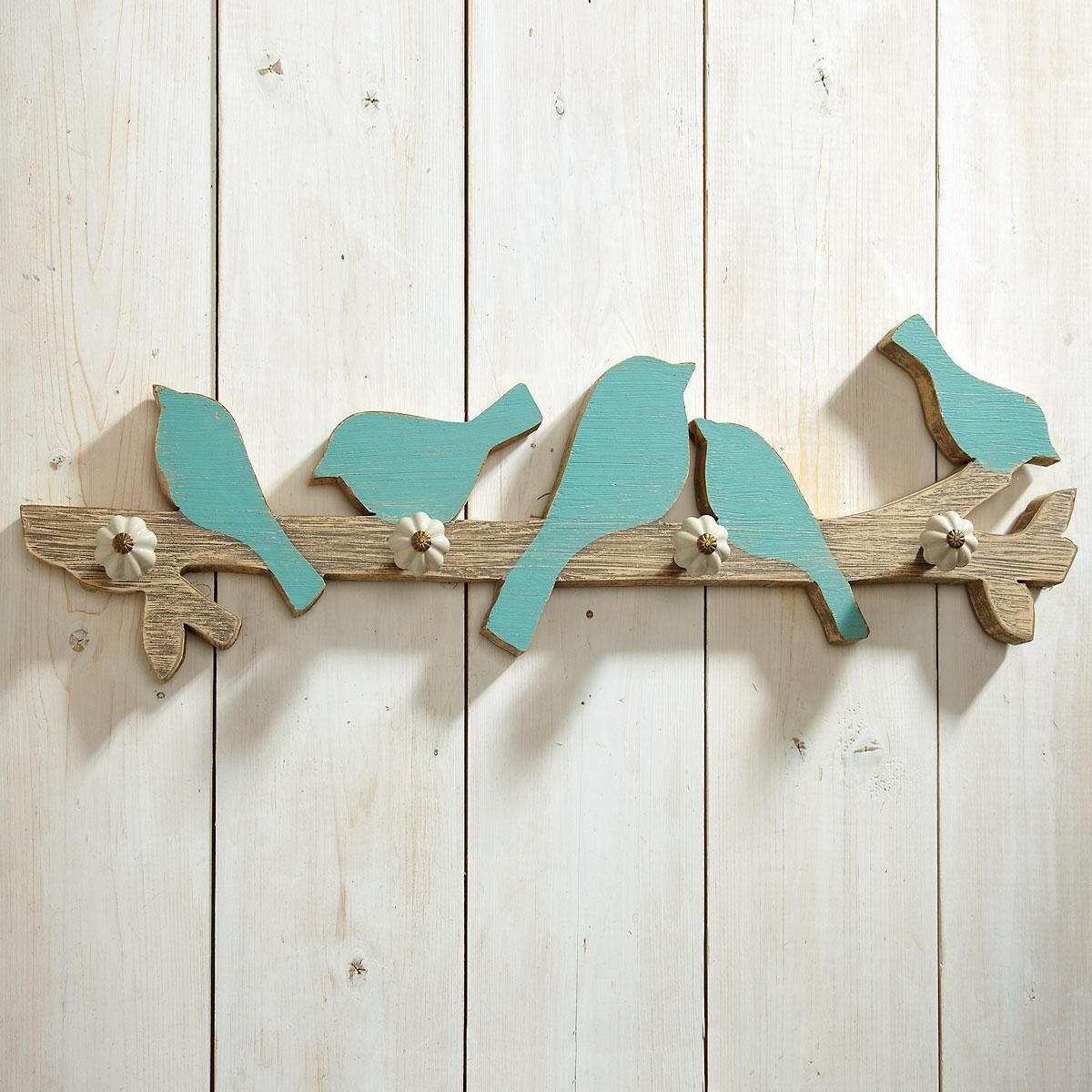 Blue Bird Wall Hooks