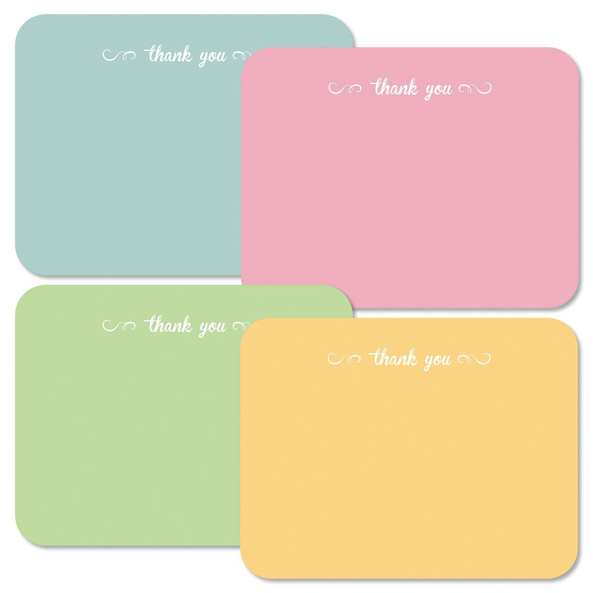 Pastel Thank You Flat Notes