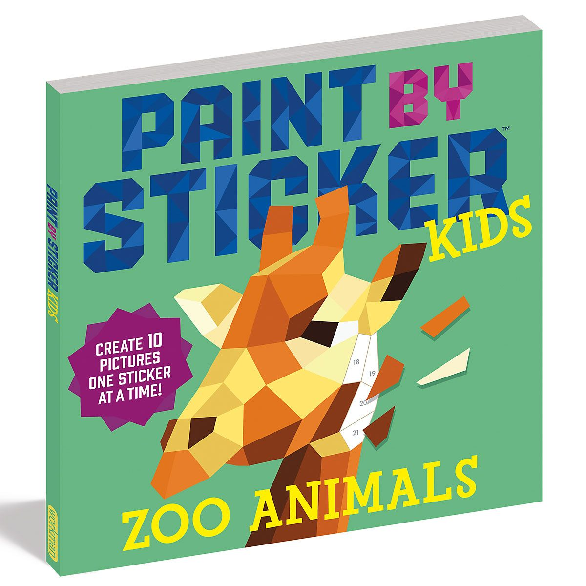 Zoo Animals Paint by Stickers Book