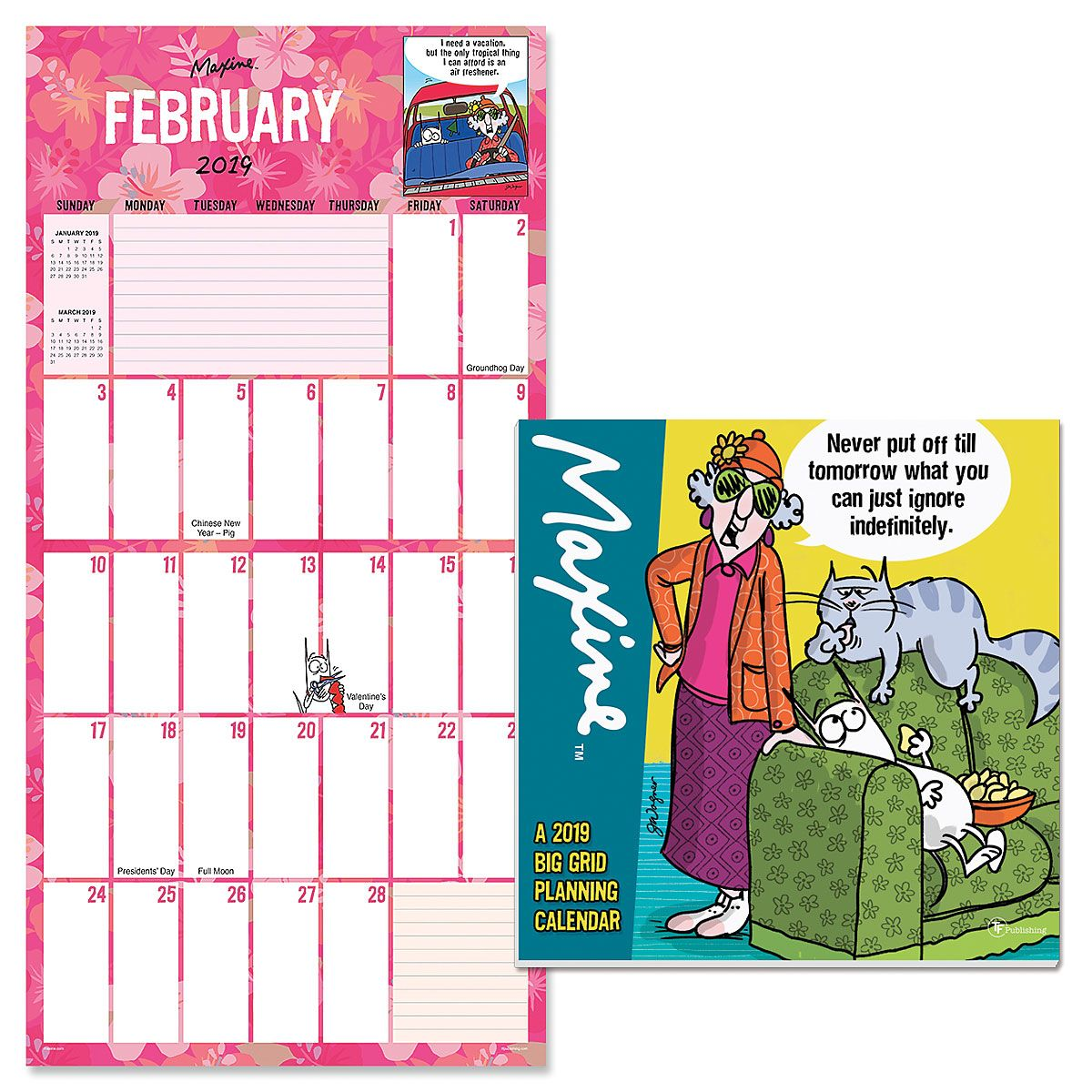 2019 Maxine™ Big Grid Specialty Calendar
