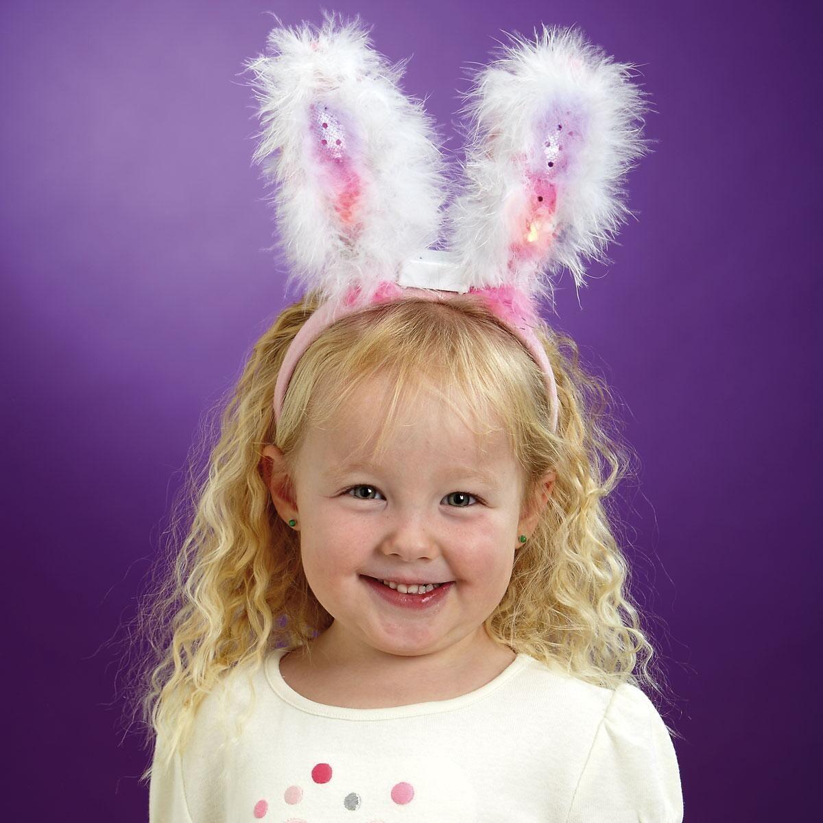 Sequin Pink Bunny Ears