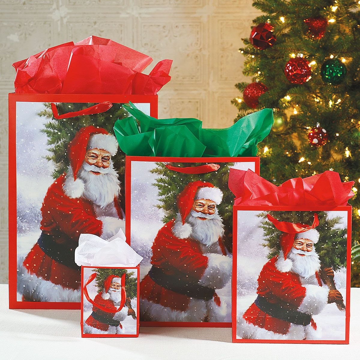 Christmas Santa Gift Bags Value Pack