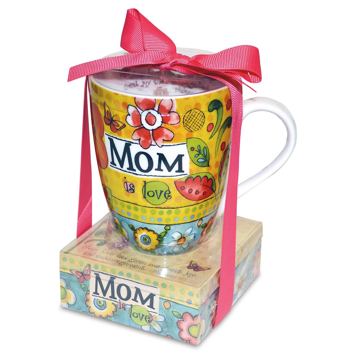 Mom is Love Mug and Memo Pad Gift Set