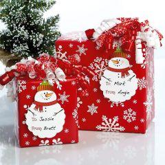 Die-cut Snowman Gift Tags